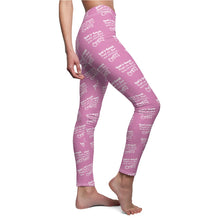 "Load image into Gallery viewer, ""God is Great People are Good Real Estate is Crazy"" Pink Leggings"