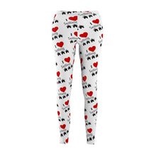 "Load image into Gallery viewer, ""I Love Selling Homes"" White Leggings"