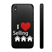 Load image into Gallery viewer, I Love Selling Homes Phone Case Black