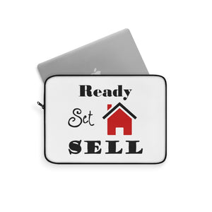 """Ready, Set, Sell"" Laptop Sleeve"