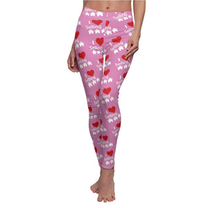 """I Love Selling Homes"" Pink Leggings"