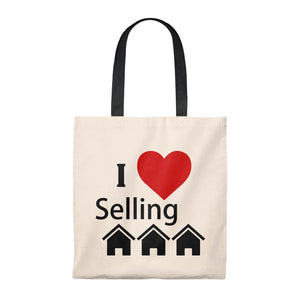 """I Love Selling Homes"" Tote Bag"