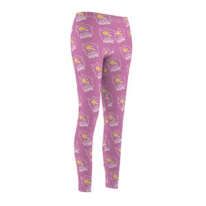"""Key to Your Dream Home"" Pink Leggings"