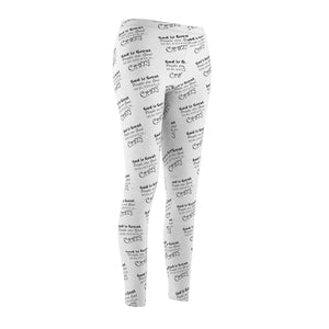 """God is Great People are Good Real Estate is Crazy"" White Leggings"
