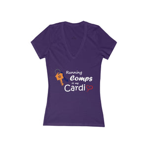 """Running Comps is my Cardio"" Women's V-Neck Tee"