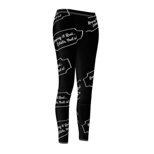 """Keeping it Real, Estate that Is"" Black Leggings"