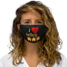 Load image into Gallery viewer, I Love Selling Homes Face Mask Black