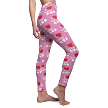 "Load image into Gallery viewer, ""I Love Selling Homes"" Pink Leggings"