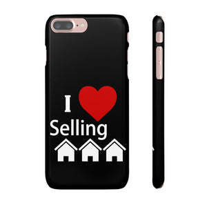 I Love Selling Homes Phone Case Black