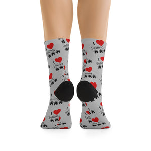 """I Love Selling Homes"" Socks"