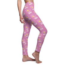 "Load image into Gallery viewer, ""Key to Your Dream Home"" Pink Leggings"