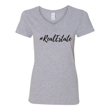 Load image into Gallery viewer, # Real Estate Women's V-Neck T-Shirt