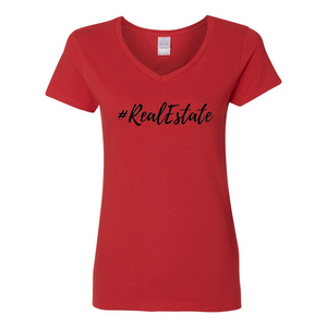 # Real Estate Women's V-Neck T-Shirt