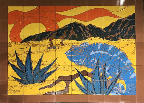 BIG BLUE, Ceramic Tile Mural, 2015