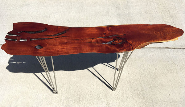 "BLAZING ARROW, Hawaiian Kiawe Console Table, 52""W x 13""D x 29""H, 2018"