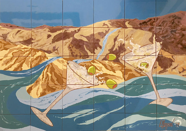 DESERT SPLASH, Ceramic Tile Mural, 2019