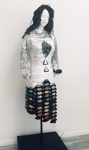 "MELODY, Mixed Media Assemblage, 72""H x 24""W x 24""D, 2020,  REQUEST SHIPPING QUOTE"