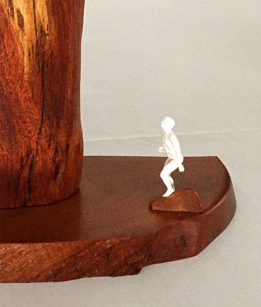 "PLANNING THE ASCENT, Hawaiian Kiawe Sculpture, 18""W x 5""D x 17""H, 2020"