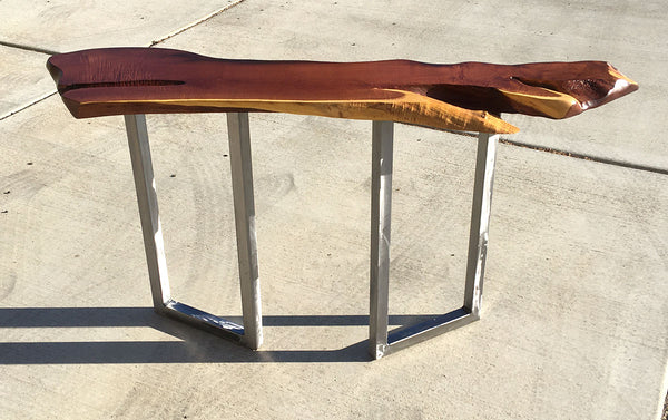 "WAVES OF TRANQUILITY,  Hawaiian Kiawe Console Table, 57""W x 14""D x 30""H, 2020"