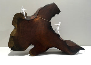 "Get Off My Cloud!, 14""W x 3""D x 10""H, Kiawe Sculpture"
