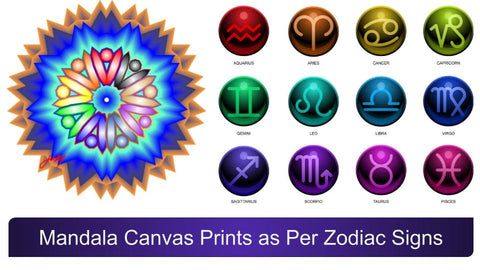 Mandala Canvas Prints as Per Zodiac Signs