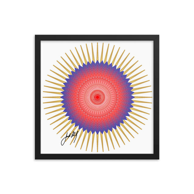 "Mandala Premier Collection- ""2""- Framed poster"