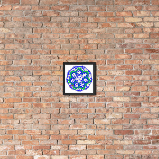 "Mini Mandala- Premier Collection-""11""- Framed Photo Paper Poster"