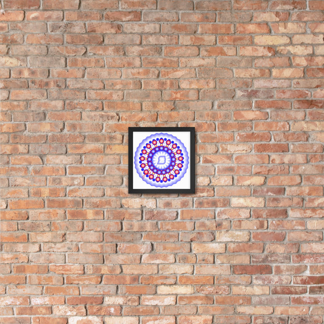 "Mini Mandala- Premier Collection- ""39""- Framed Photo Paper Poster"