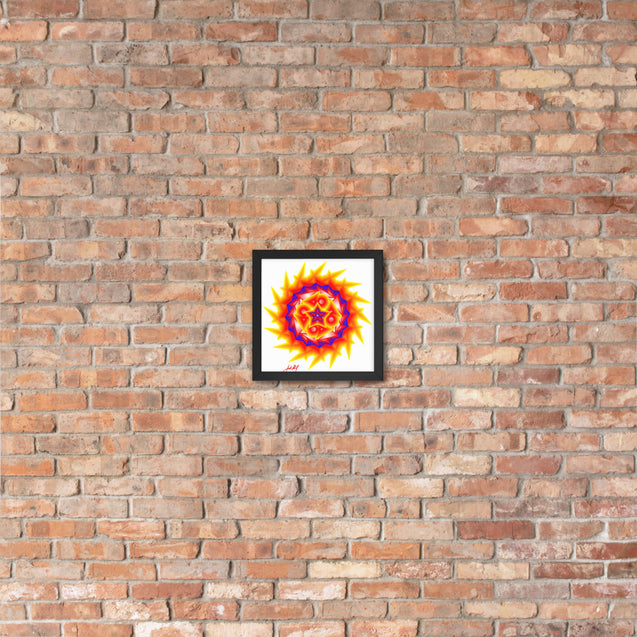"Mini Mandala- Premier Collection- ""42""- Framed Photo Paper Poster"