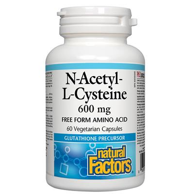 Natural Factors NACetyl-L-Cysteine 600mg 60 caps.