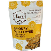 Eve's Crackers Savoury Sunflower 108g bag.