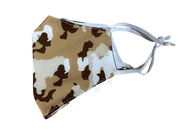 2 Layer Fabric Face Mask - Camo White