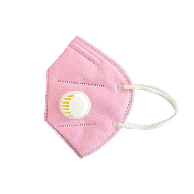KN95 Face Mask w/ Valve - 6 Pack  Pink