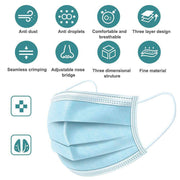 3PLY Disposable Face Mask - Blue