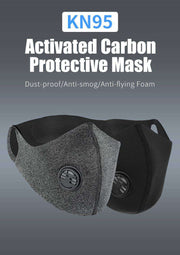 Cationic Space X Sports Mask with Premium Filter - Black