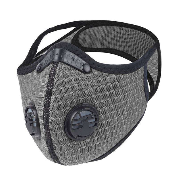 Mesh PRIMO Sports Face Mask with Premium Filter - Black