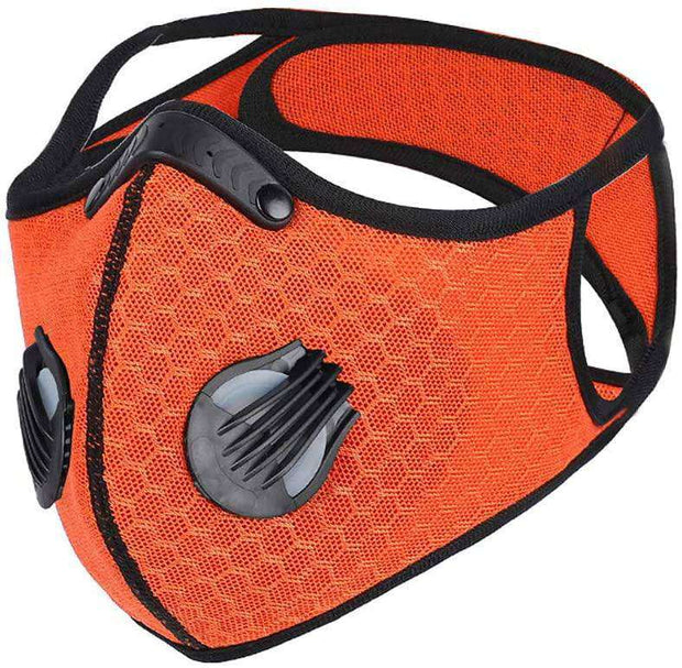 Mesh PRIMO™ Sports Face Mask with Premium Filter - Orange