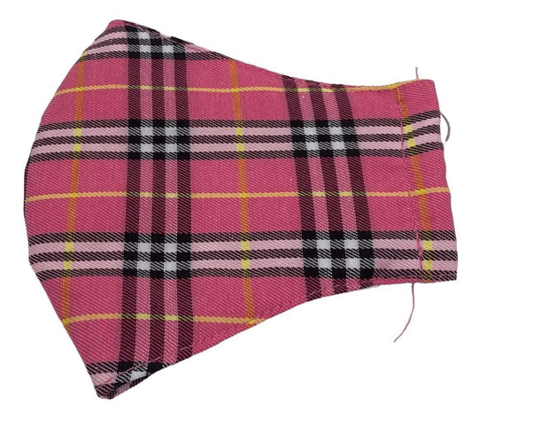 Cloth Face Mask - Pink Plaid