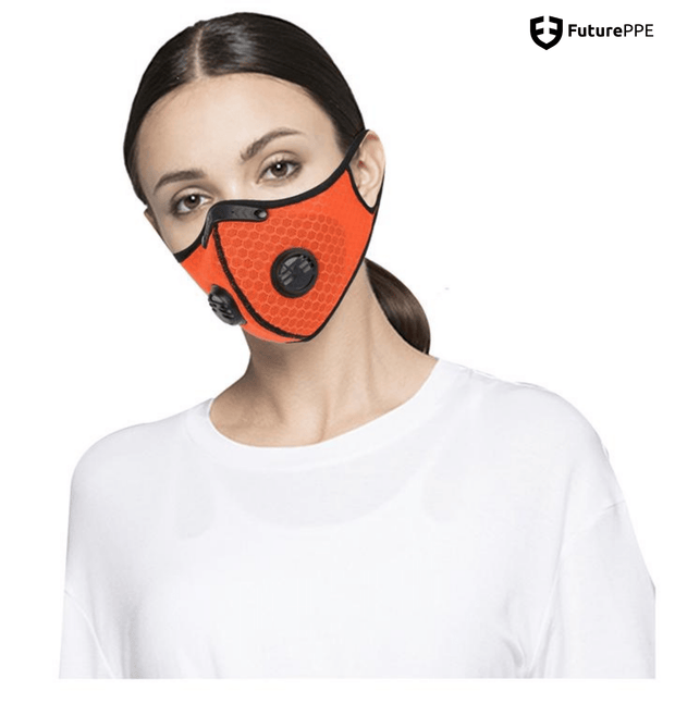 Mesh PRIMO Sports Face Mask with Premium Filter - Baby Blue