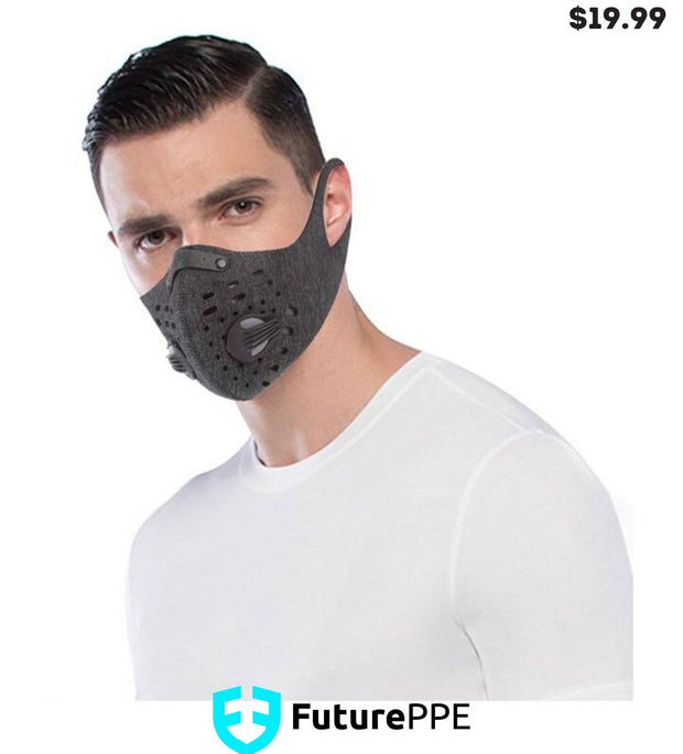 Mesh PRIMO Sports Face Mask with Premium Filter - Blue