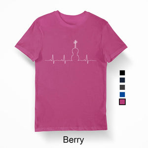 Men's Heartbeat T-Shirt White print