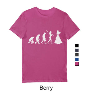 Woman's Evolution T-Shirt White print