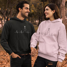 Load image into Gallery viewer, Hoodie Heartbeat White Print