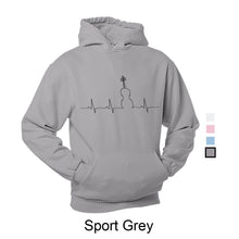 Load image into Gallery viewer, Hoodie Heartbeat Black Print