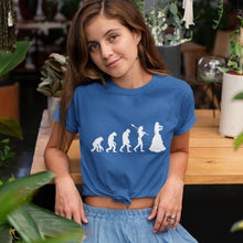 Load image into Gallery viewer, Woman's Evolution T-Shirt White print