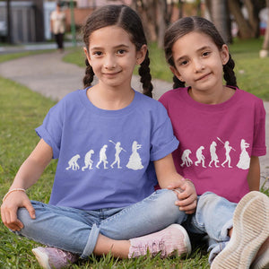 Girls Evolution T-Shirt White print