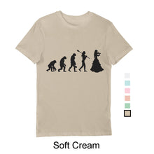 Load image into Gallery viewer, Woman's Evolution T-Shirt Black print