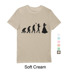 Woman's Evolution T-Shirt Black print