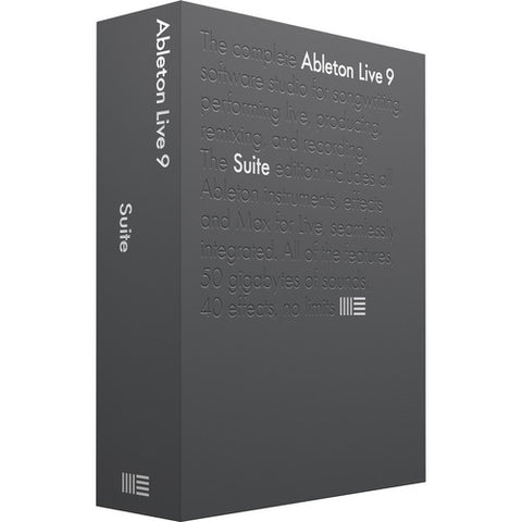 Ableton Live 9 Suite Edition, UPG from Live Lite-Box with serial number