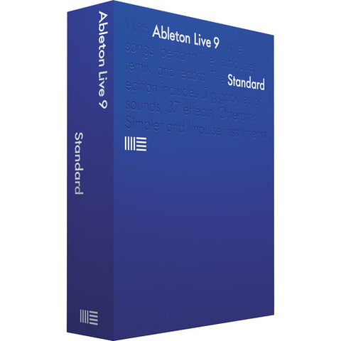Ableton Live 9 Standard Edition, UPG from Live Intro-Box with serial number